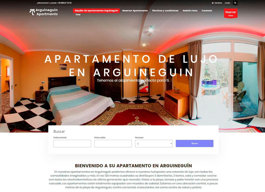 Diseño web reservas online