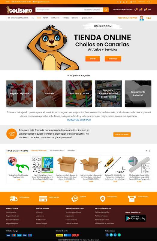 Golisneo tienda online